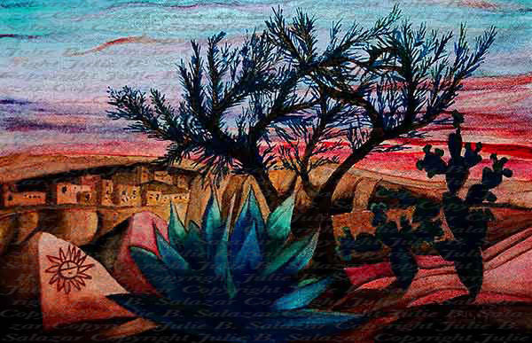 Greeting the Sun - Southwest Landscape Series