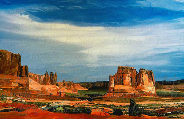 The Sculpture Garden - Southwest Landscape Print Series